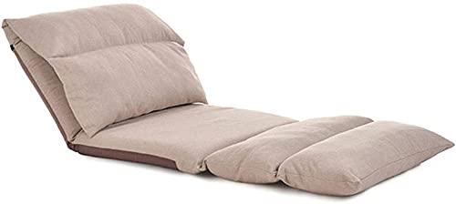 WWJ Sofá de Piso Plegable para meditación, Asientos de Piso, sillas de Piso, Dormitorio, sillón reclinable, sofá con Tela Agradable para la Piel, Ajustable en 5 Posiciones para balcón, lectu