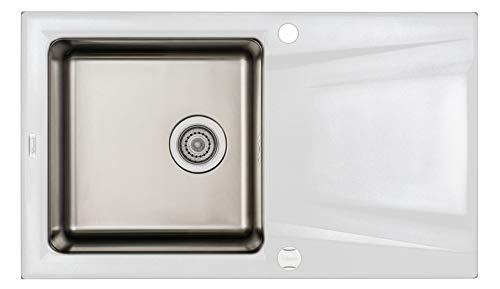 Deante ZSR_A113 Prime - Fregadero (acero y granito, acero inoxidable/alabastro