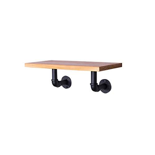 Wenhui Industrial Pipe Shelf 1 Layer Pipe Floating Shelf Design Rústico Moderno Escalera de Madera Estantería DIY Estantería de Pared (Tamaño : 60 * 20 * 15CM)