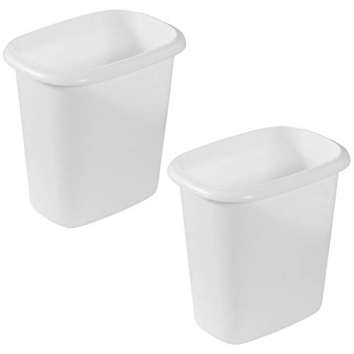 Rubbermaid 6 Quart Bedroom Bathroom and Office Wastebasket Trash Can 2 Pack