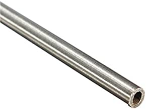 CynKen 2pcs OD 6mm x 5.5mm ID Stainless Pipe 304 Stainless Steel Capillary Tube Length 500mm