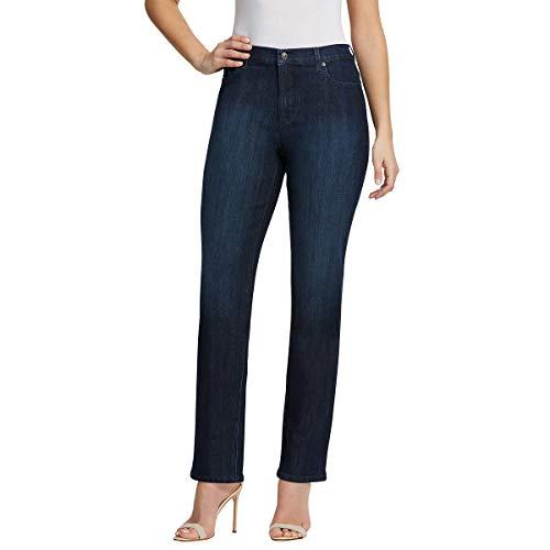 Gloria Vanderbilt - Pantalones de mezclilla Amanda Stretch para damas, Straight, 14, azul (Scottsdale Blue)