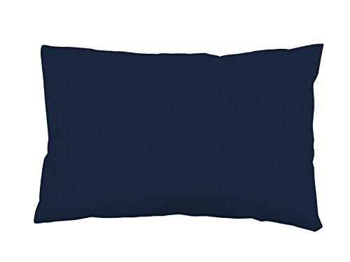 Soleil d'ocre Funda de Almohada Lisa de algodón US 50x70 cm Azul Marino