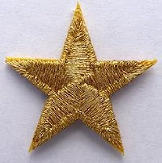 Patch Parche Estrella Dorado Bordado Airsoft Rock Goth Militar ...