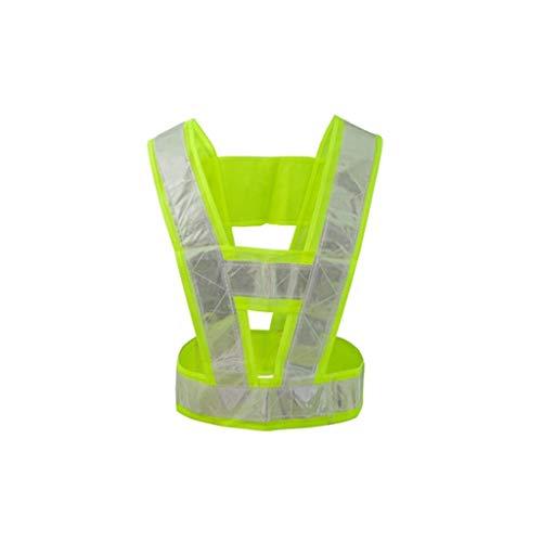 Sicurezza Zipper giubbotto/ Maglia riflettente di sicurezza, luminoso bicolore Notte riflettente Vest-alta luminosità Servizio di avviso di sicurezza