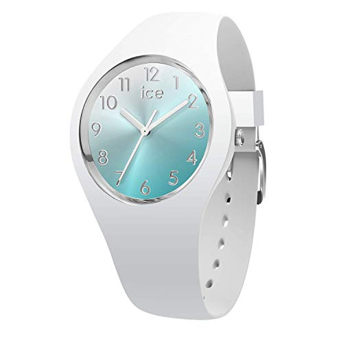 Ice-Watch - ICE sunset Turquoise - Weiße Damenuhr mit Silikonarmband - 015745 (Small)