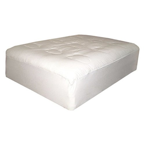 Mattress Pad. Best Comfort, Soft, Hypoallergenic, Made From 100% Cotton Topper Pillow For Deep Healthy Sleep. Machine Washable, Durable Protection Cover Protects Bed From Stains, Dirt, Dust & Wetness.