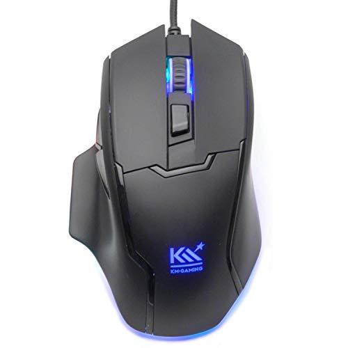 Preisvergleich Produktbild KM-Gaming K-GM4 optische RGB 12.000cpi Gaming Maus USB [Pixart PMW3360 Sensor / 50G / Metal Frame / Omron Schalter / programmierbar]