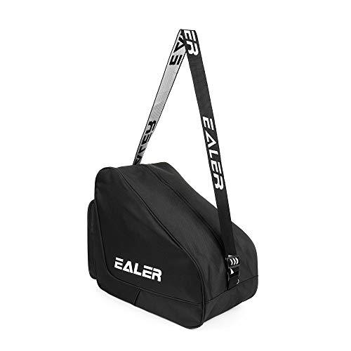 EALER Heavy-Duty Ice Hockey Skate Carry Bag, Adjustable Shoulder Strap-Black