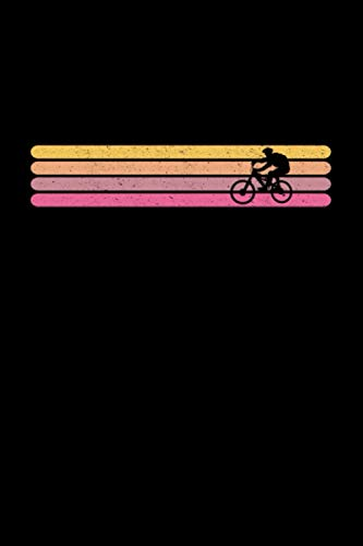 Retro BMX Vintage Stribes Bike: Notebook / Paperback with Cross Country Bicycle motive -in A5 (6x9in) dotted dot grid