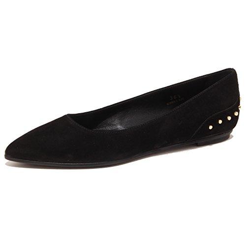 Tod's 3268P Ballerina Donna Nero Scarpa Shoe Suede Woman [35.5]