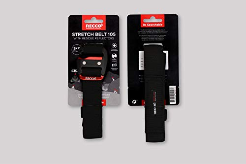 Recco Rettungs Reflektor Gürtel Stretch: S – M (66-105 cm) mit 2 Reflektoren