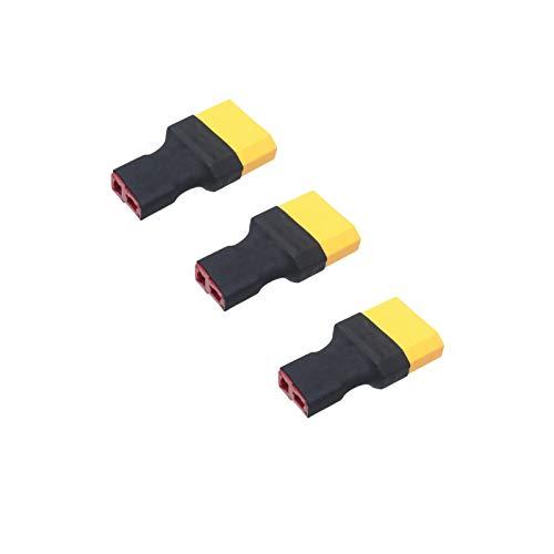Boladge 3パックDeans TプラグメスコネクタはXT90オスコネクタアダプターに変換 RC Lipo NiMHバッテリー充電器用