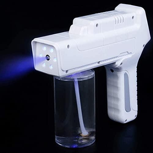 Pistola de pulverización de nano desinfectante portátil, pulverizador Nano Pasado de mano Atomizador de pistola de vapor Ulv, equipado con batería de litio 2000MHA, distancia de pulverización 2m