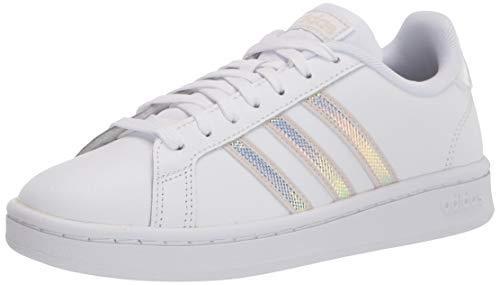 adidas Grand Court - Zapatillas de Tenis para Mujer, Aluminio Blanco, 41 1/3 EU