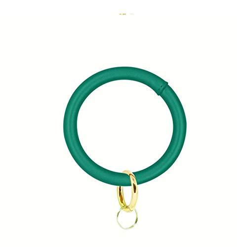 HBWHY - Llavero con pulsera y llavero elegante para llaves de coche, llaves de puerta, mujeres y hombres, color verde