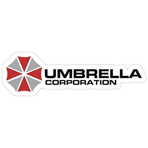 BreathNenStore Regenschirm Corporation, weiß, Resident Evil Resident Evil 3 Aufkleber (3 Stück/Pack) 3407664665629
