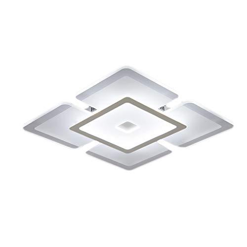 Lámpara de techo LHY LED Lámpara de Sala Lámpara de Dormitorio de Ambiente Moderno Simple Lámpara de habitación Creativa romántica cálida Exquisito (Color : White Light, Size : 52 * 52cm)
