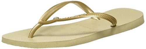 Havaianas Slim, Infradito Donna, Oro (Sand Grey/Light Golden), 35/36 EU