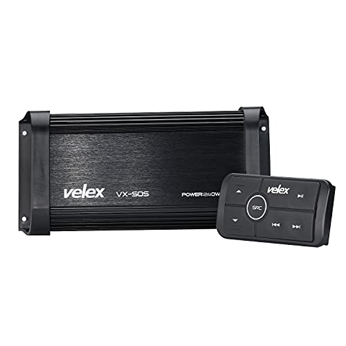 Marine Bluetooth Amplifier 4 Channel Class D Amp on Boats UTV ATV Golf Carts and Cars