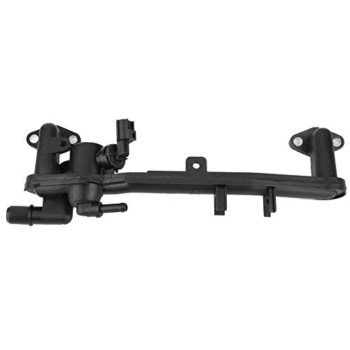 Qiilu Car Heater Manifold Pipe, Heater Manifold Tube Coolant Flange with Sensor LR018273 for Range Rover LR4 Sport