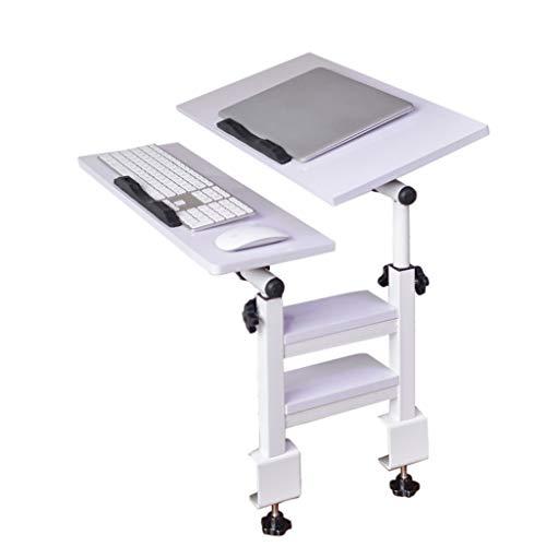 Table d'ordinateur Portable, Bureau Peut être 180 ° Flip et Rotation à 360 °, la Hauteur Peut être ajustée Librement, la Table Pliante est Simple, Convient pour l'étude de Chambre