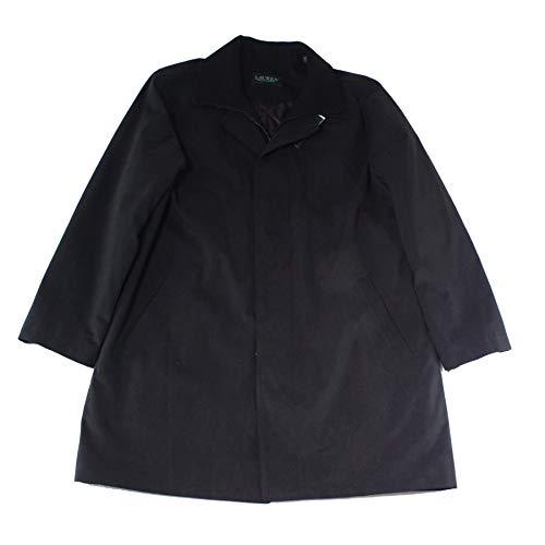 Lauren Ralph Lauren Mens Edgar Water Resistant Long Sleeves Raincoat Black 46R