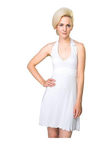 RAIKOU dames V-hals slaapjurk zomerjurk nachthemd korte jurk blousejurk mini jurk