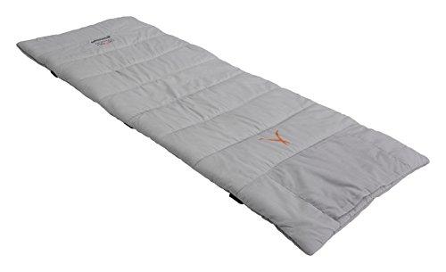 EOL Grand Canyon Topaz Feldbettauflage L - weich und gut isolierende Baumwollauflage mit hochwertiger Polyesterfüllung, Tasche für Kissen, 210 x 80 cm, grau, 308024