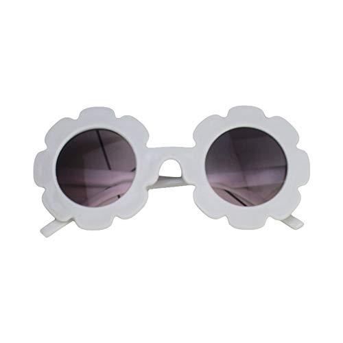 Gafas de sol redondas con protección UV, coloridas gafas de sol para niños de 0 a 8T, Blanco (Blanco), Fits for 0-8 Years