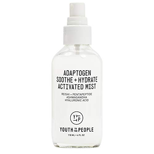 Youth To The People Adaptogen Soothe + Hydrate Activated Mist - Moisturizing Facial Spray with Hyaluronic Acid, Reishi + Pentapeptide - Vegan Face Mist - Clean Beauty (4oz)
