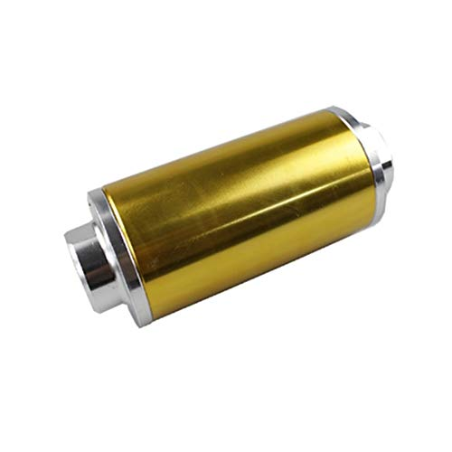 Auto-onderdelen 58MM Universal stookoliefilter met 2 stuks AN6 AN8 AN10 Adapter Fittings met 100micron Steel Element Accessoires (Color : Gold, Size : Free)