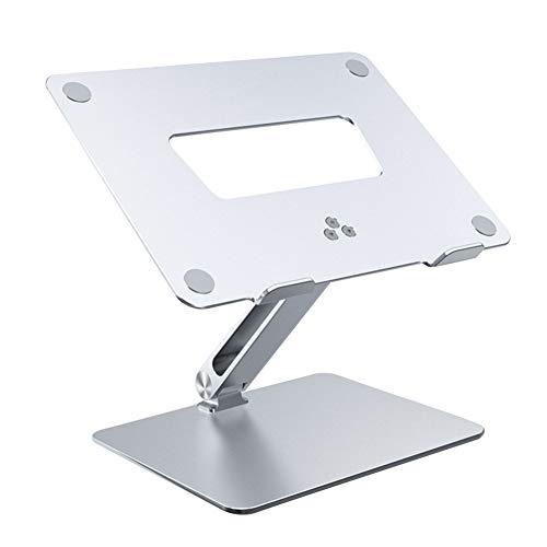 FEIDAjdzf - Soporte para ordenador portátil, con ventilación, ergonómico, aleación de aluminio, ajustable, plegable, soporte de escritorio para portátil