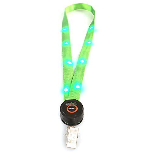 LED Light Up Neck Strap medewerkerskaart hanger koord ID naambordje lanyard hanger kant - groen