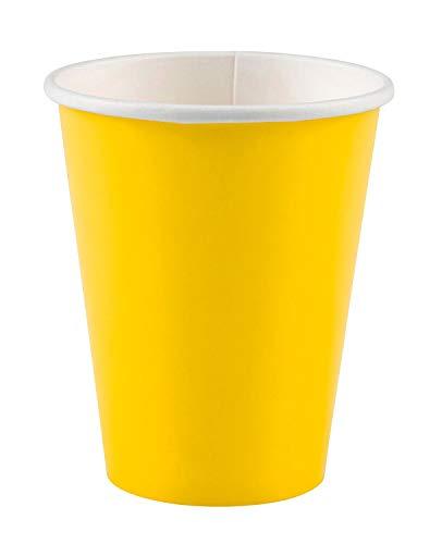 amscan - Vasos de cartón, Color Amarillo (58015-09A)