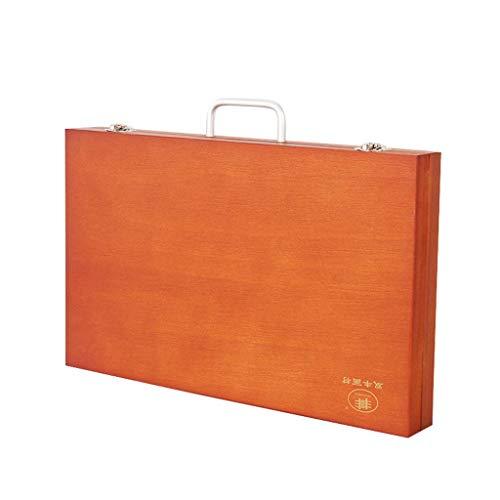EuropäIsche Retro-Farbe Paulownia Die Tonerkartusche, Tragbare Picture Box, Tragbare Toolbox, Professionelle Zeichnung öLgemäLde Box