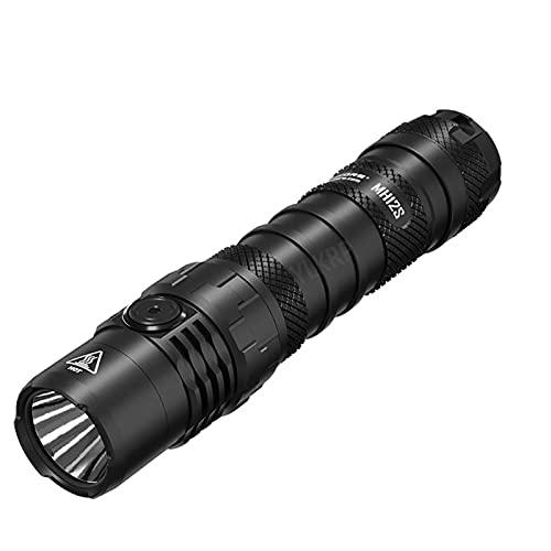 ZGLXZ MH12S USB-C Linterna LED Recargable 1800 Lumens Incluyendo 21700 Linterna De La Batería Al Aire Libre Portátil Pequeña LED Linterna Fuerte Linterna