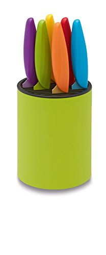 Ausonia 96427 - Bloque de Cuchillos, plástico, Color Verde