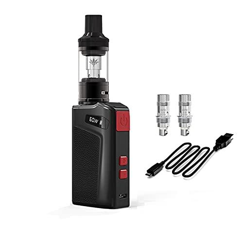 Kit de inicio de cigarrillo electrónico Move 60 Vape kit con batería de 2100mAh Mod Tanque de recarga superior No E Líquido No Nicotina (Negro)