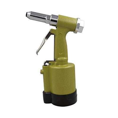 Hydraulische pneumatische Nietpistole, Edelstahl-Blindnietpistole, industrietaugliches Nietwerkzeug (Color : Gold)