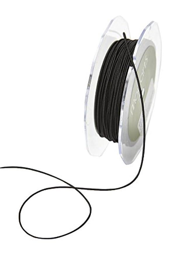 May Arts 1 mm Elastic String Ribbon 50 yd Black