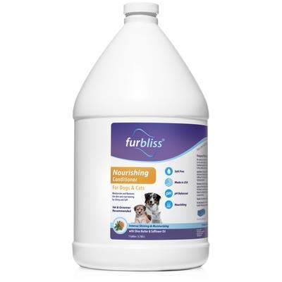 VETNIQUE LABS Furbliss Nourishing Dog Conditioner - Intense Shine & Moisturizing, Hydrating Detangler with Shea Butter & Safflower Oil Pure Bliss with Furbliss (1-Gallon)