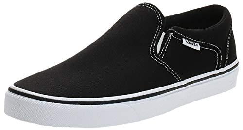 Vans Asher, Sneaker Uomo, Nero Canvas/Black/White, 43 EU