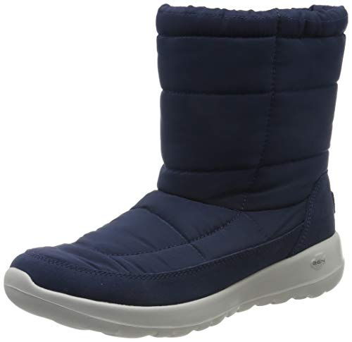 Skechers Women's ON-The-GO Joy High Boots, Blue (Navy Textile/Suede NVY), 4.5 (37.5 EU)