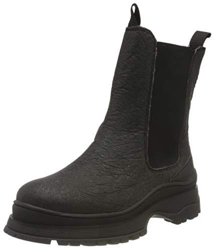 SELECTED FEMME Damen SLFLUCY Textile Chelsea Boot B Stiefel, Black,41 EU