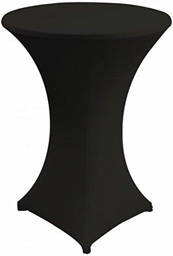 Gastro Uzal Stehtischhusse Stretch Set 2 teilig schwarz 80-85 cm rund Husse für Stehtische Tischhusse überwurf Bistrotischhussen Stretch
