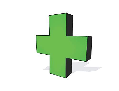 Green Medical Cross Business Sign, Outdoor/Indoor Weather Resistant Sign.