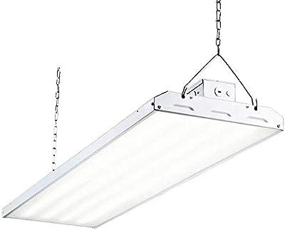 LED High Bay Shop Light, 4FT 223W 135LM/W Linear LED Industrial Workshop Light, Warehouse Aisle Area Light 30105lm, 5000K, 4 Lamp Fluorescent Equivalent, 1-10V Dim, UL Complied