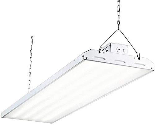 LED High Bay Shop Light, 4FT 210W 140LM/W Linear LED Industrial Workshop Light, Warehouse Aisle Area Light 29400lm, 5000K, 4 Lamp Fluorescent Equivalent, 1-10V Dim, UL Complied