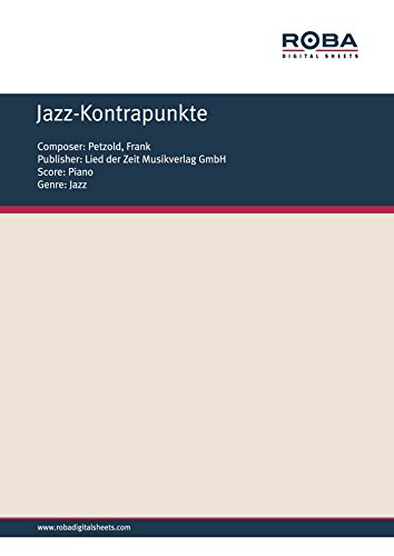 Jazz-Kontrapunkte: Sheet Music (English Edition)